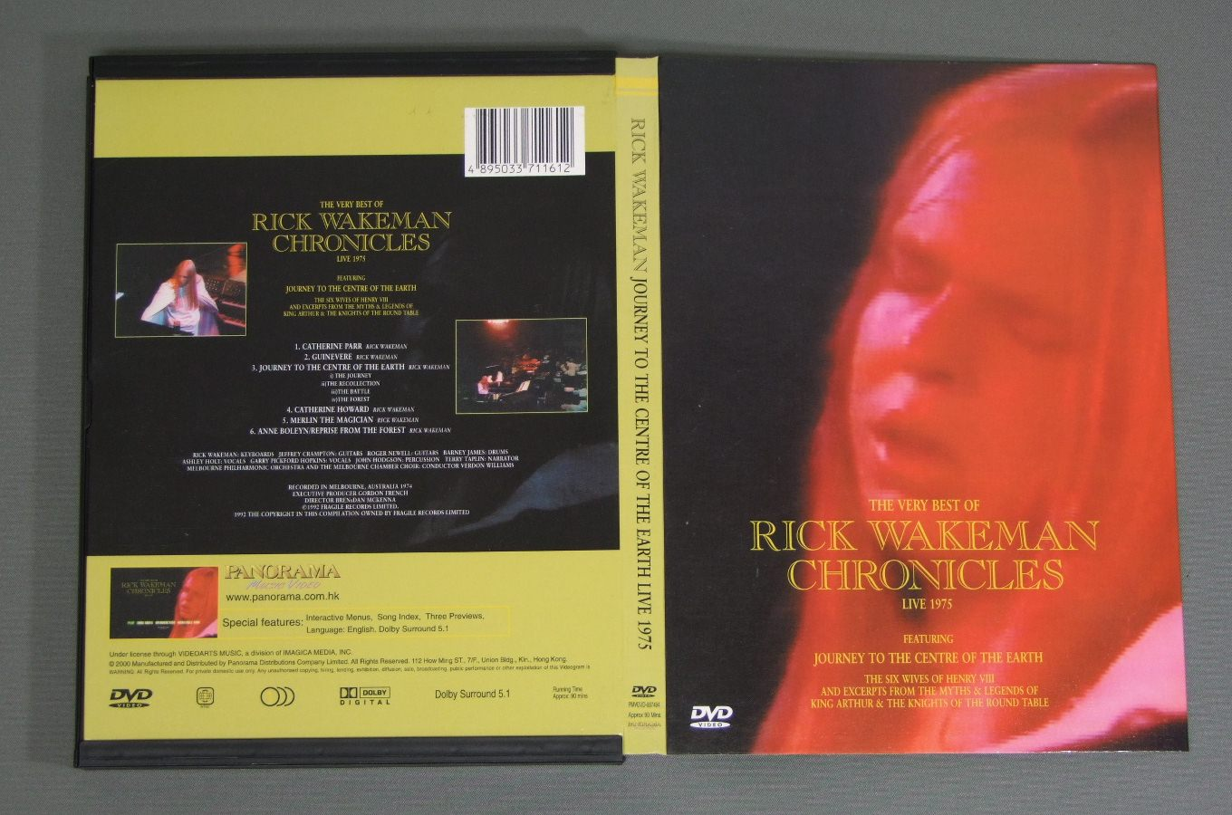 RICK WAKEMAN - JOURNEY TO THE CENTRE OF THE EARTH LIVE 1975 - DVD