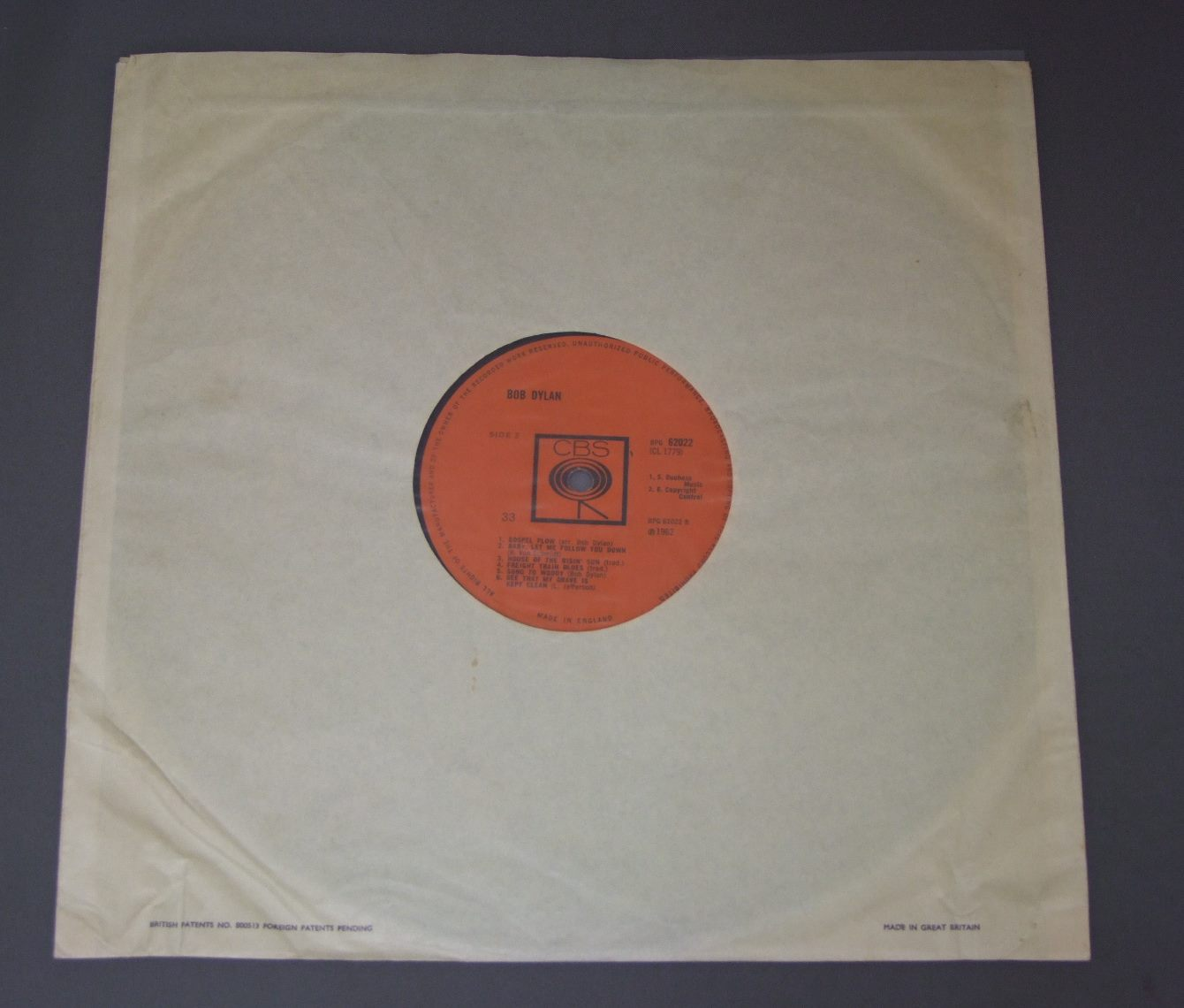 BOB DYLAN 1st ALBUM