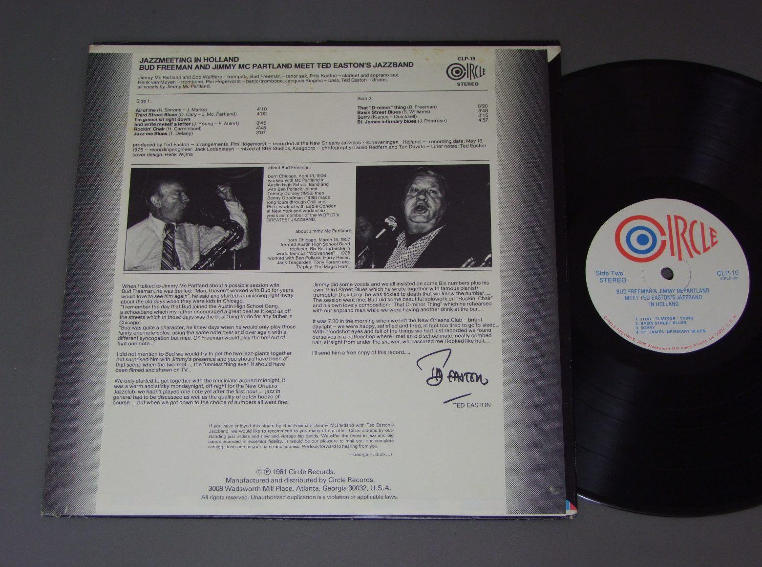 Bud Freeman , Jimmy McPartland* Jimmy Mc Partland·, Ted Easton Jazzband* Ted Easton's Jazz band - Jazzmeeting In Holland