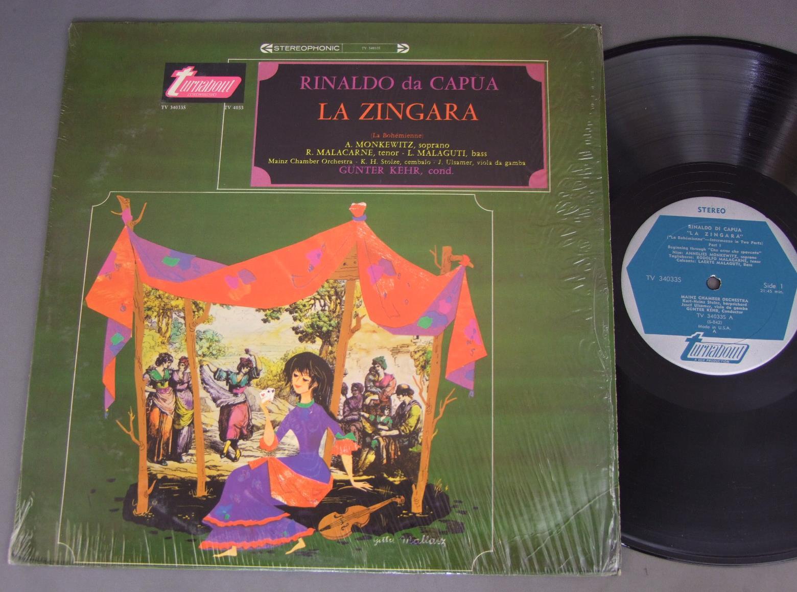 GUNTER KEHR - RINALDO DA CAPUA ZINGARA - LP