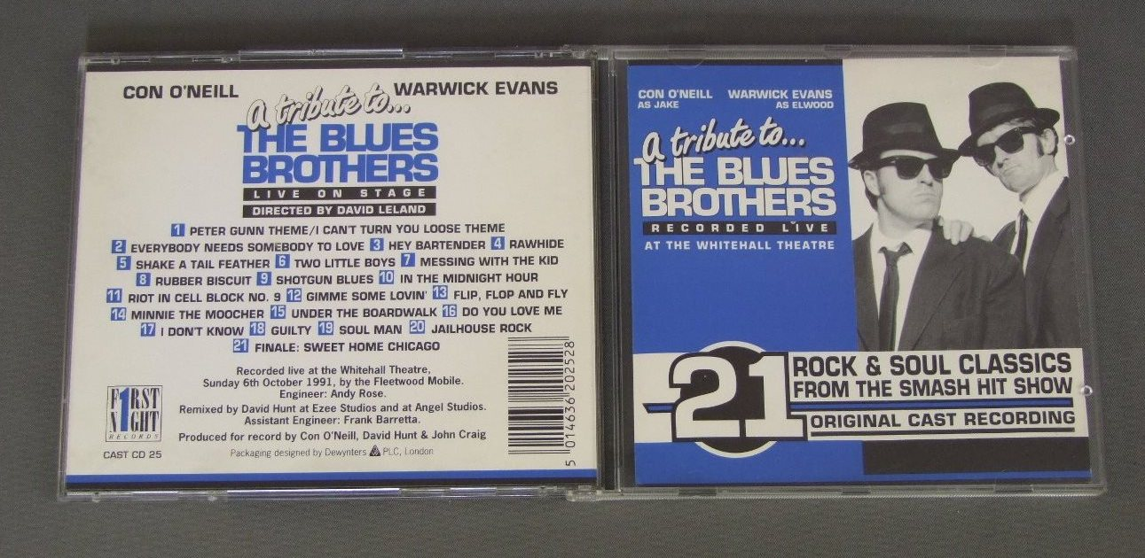 CON O`NEILL & WARWICK EVANS - TRIBUTE TO THE BLUES BROTHERS - CD