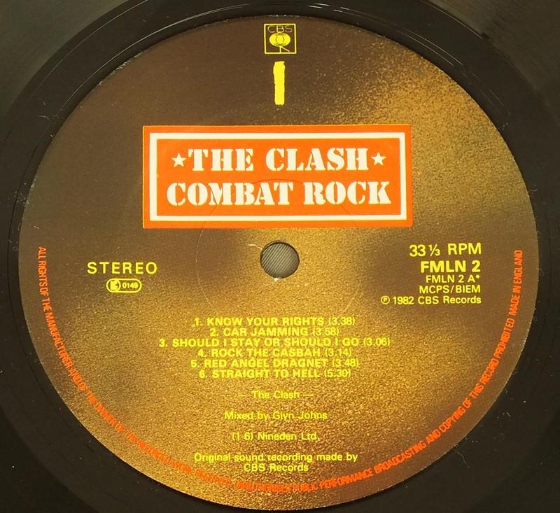 CLASH COMBAT ROCK w/POSTER