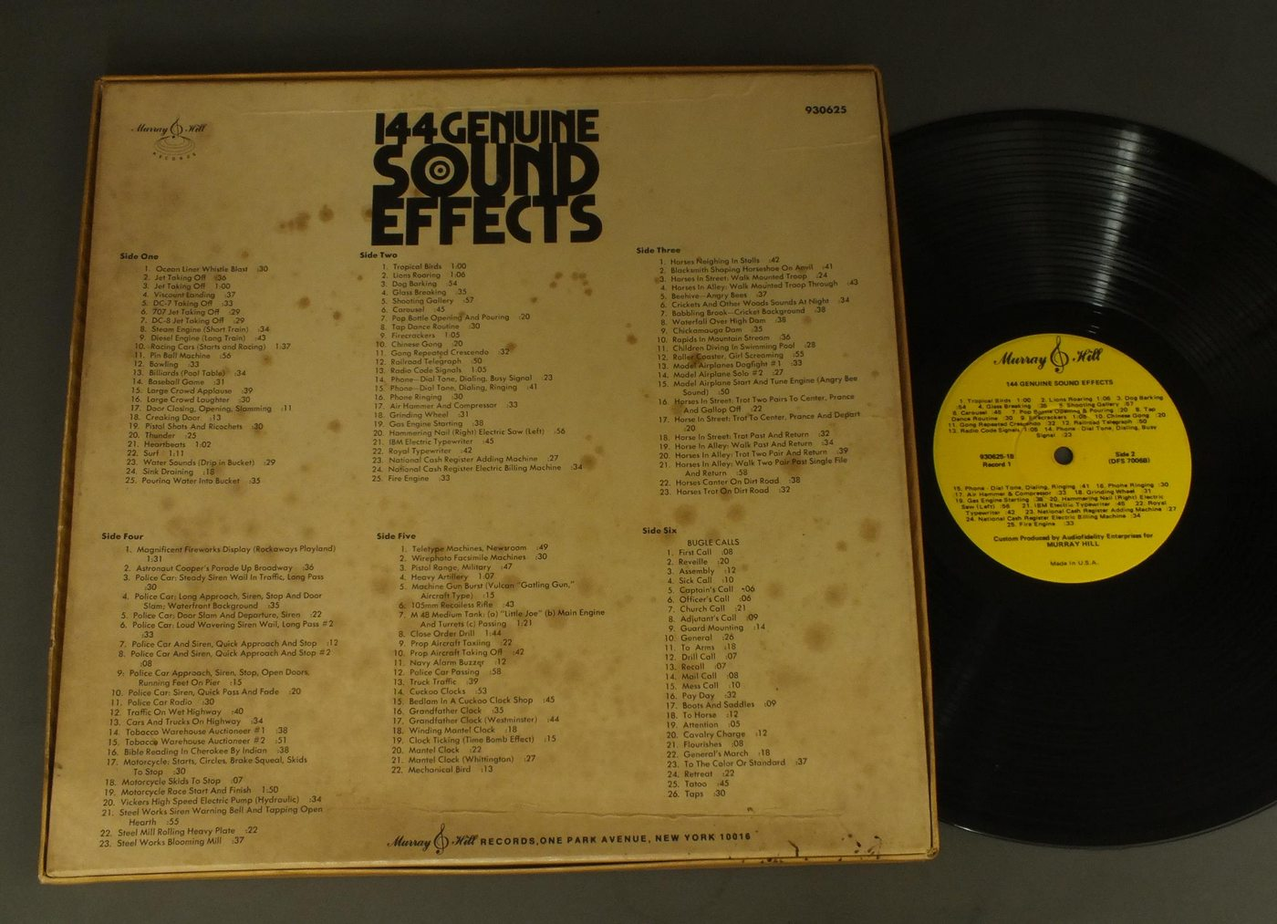Details about SOUND EFFECT/144 GENUINE SOUND EFFECTS 3LP BOX US 930625