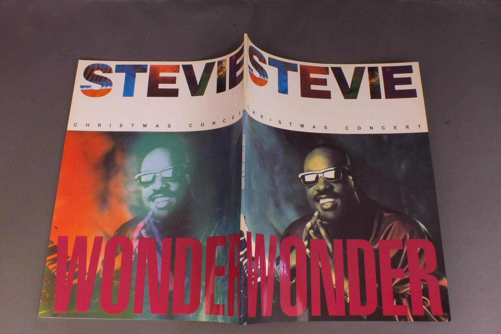 STEVIE WONDER - CHRISTMAS CONCERT 1990 IN JAPAN PROGRAM - Concert Program