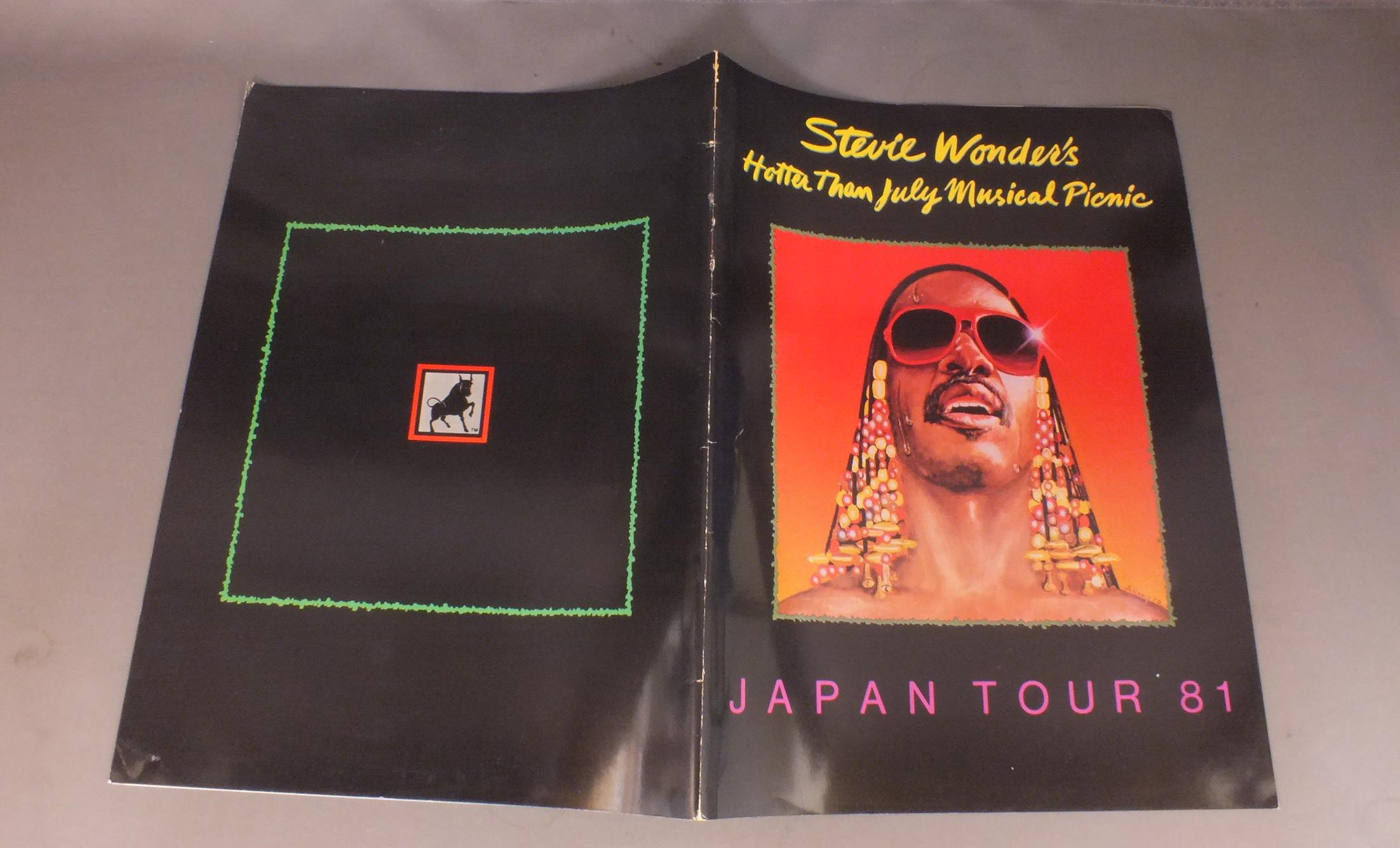 STEVIE WONDER - JAPAN TOUR `81 PROGRAM - Concert Program