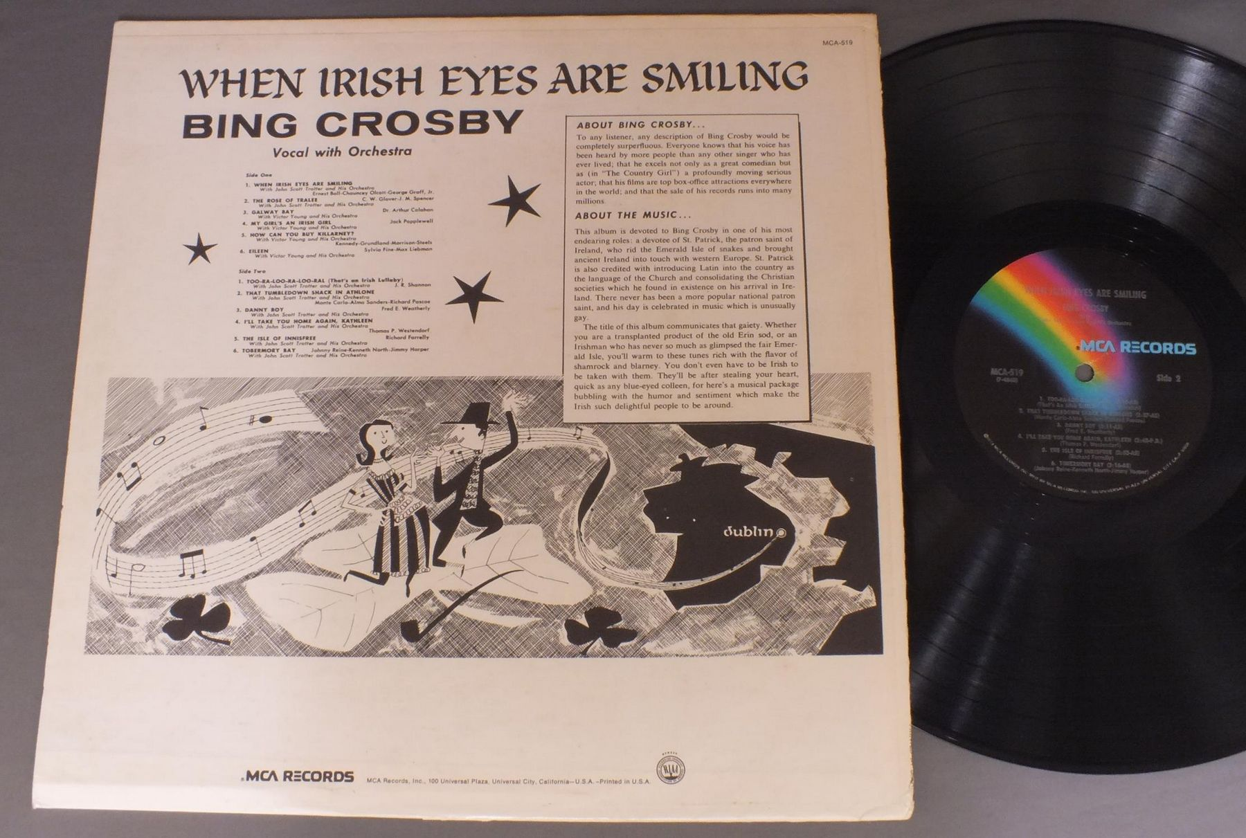 BING CROSBY/WHEN IRISH EYES ARE SMILING MCA519アナログ