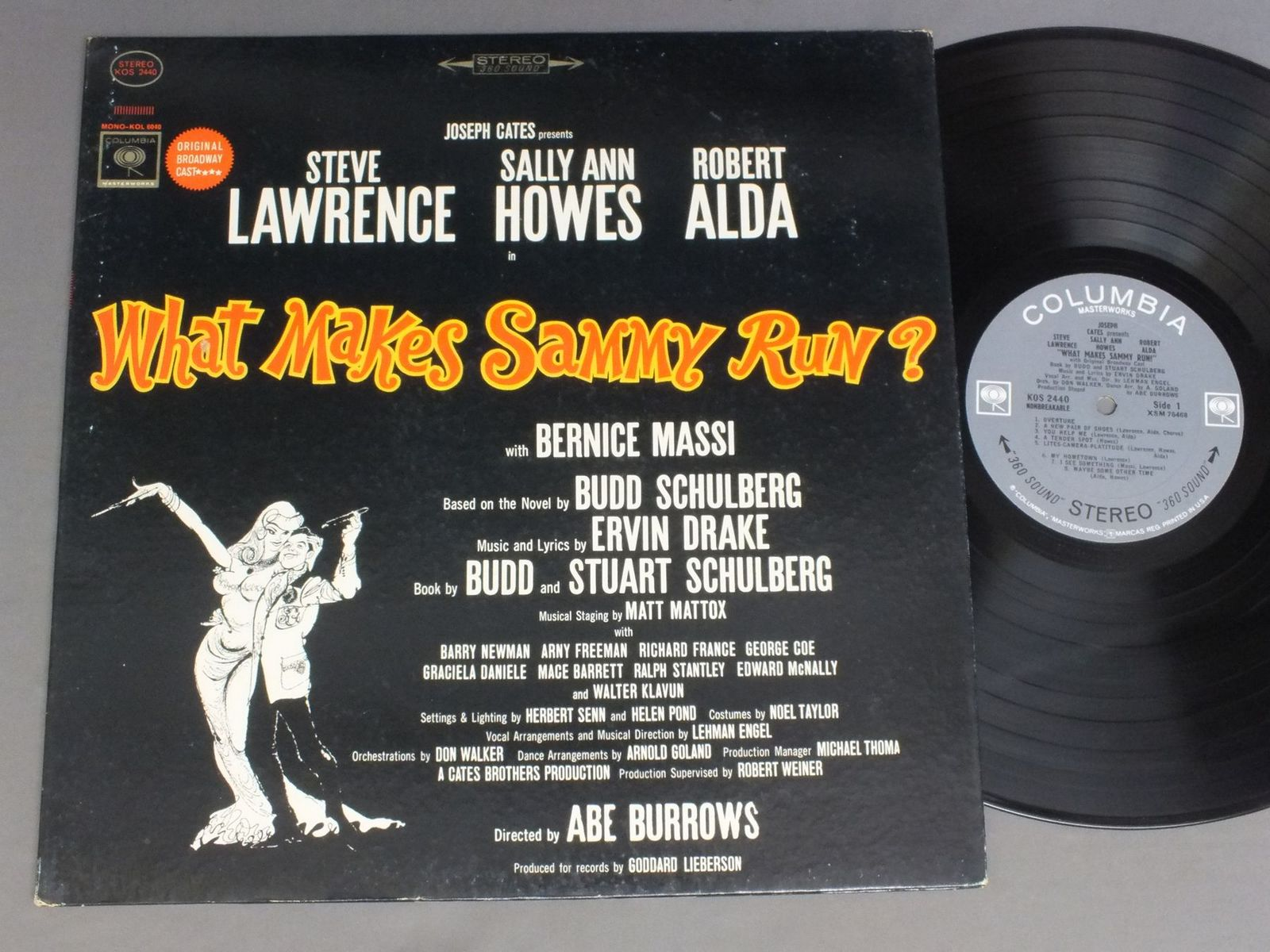 ABE BURROWS - MUSICAL WHAT MAKES SAMMY RUN ? - 33T