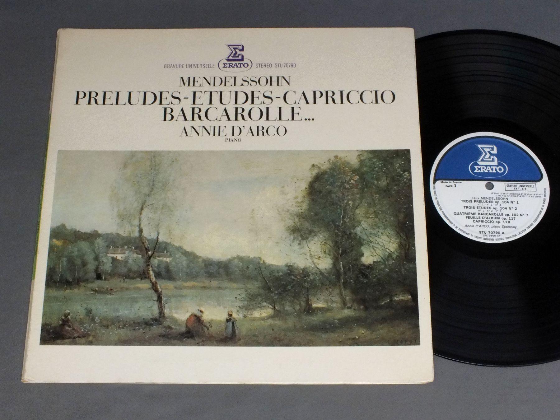 annie d`arco mendelssohn - preludes-etudes-capriccio barcarollec