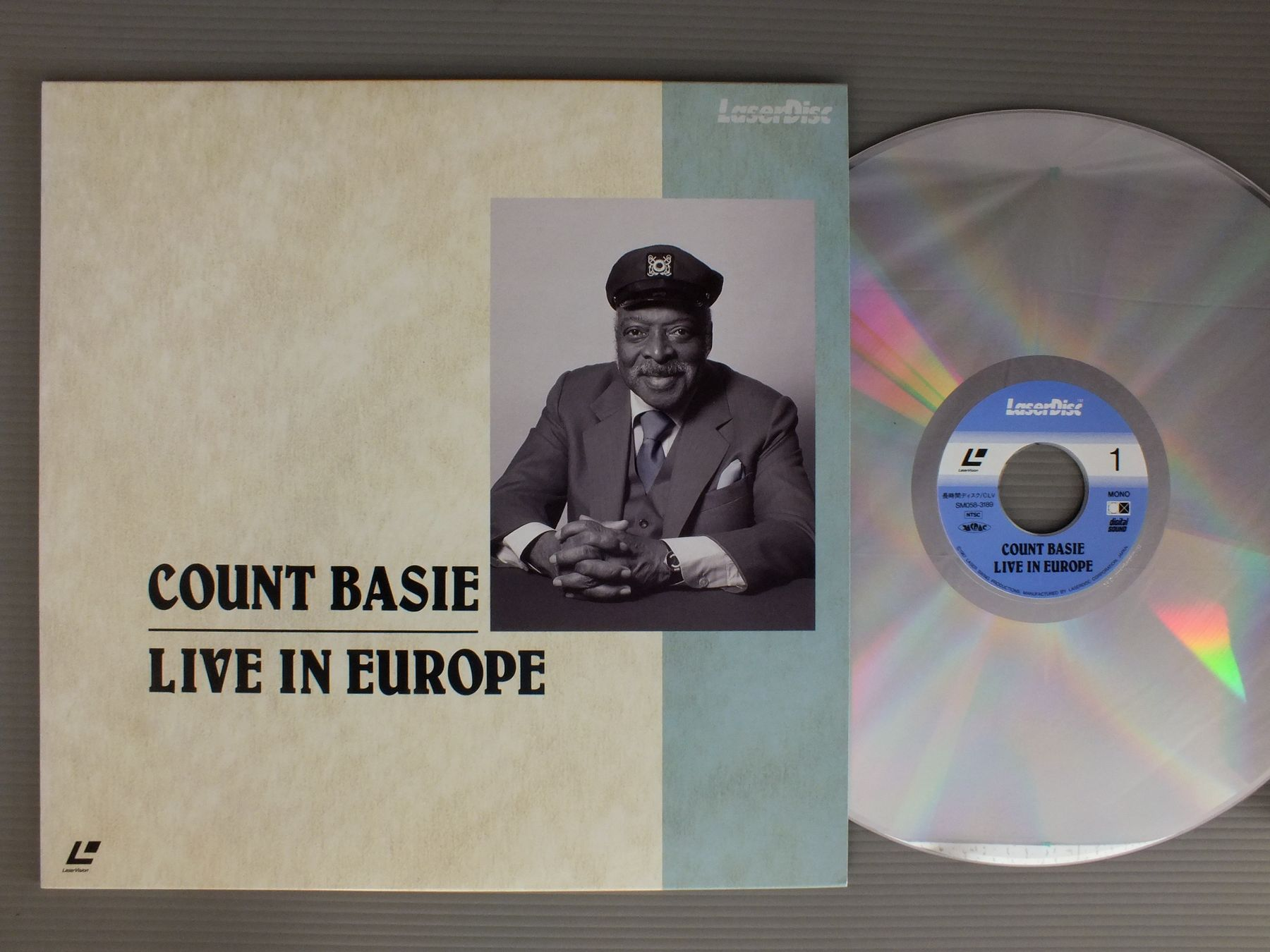 COUNT BASIE - LIVE IN EUROPE - Laser Disc