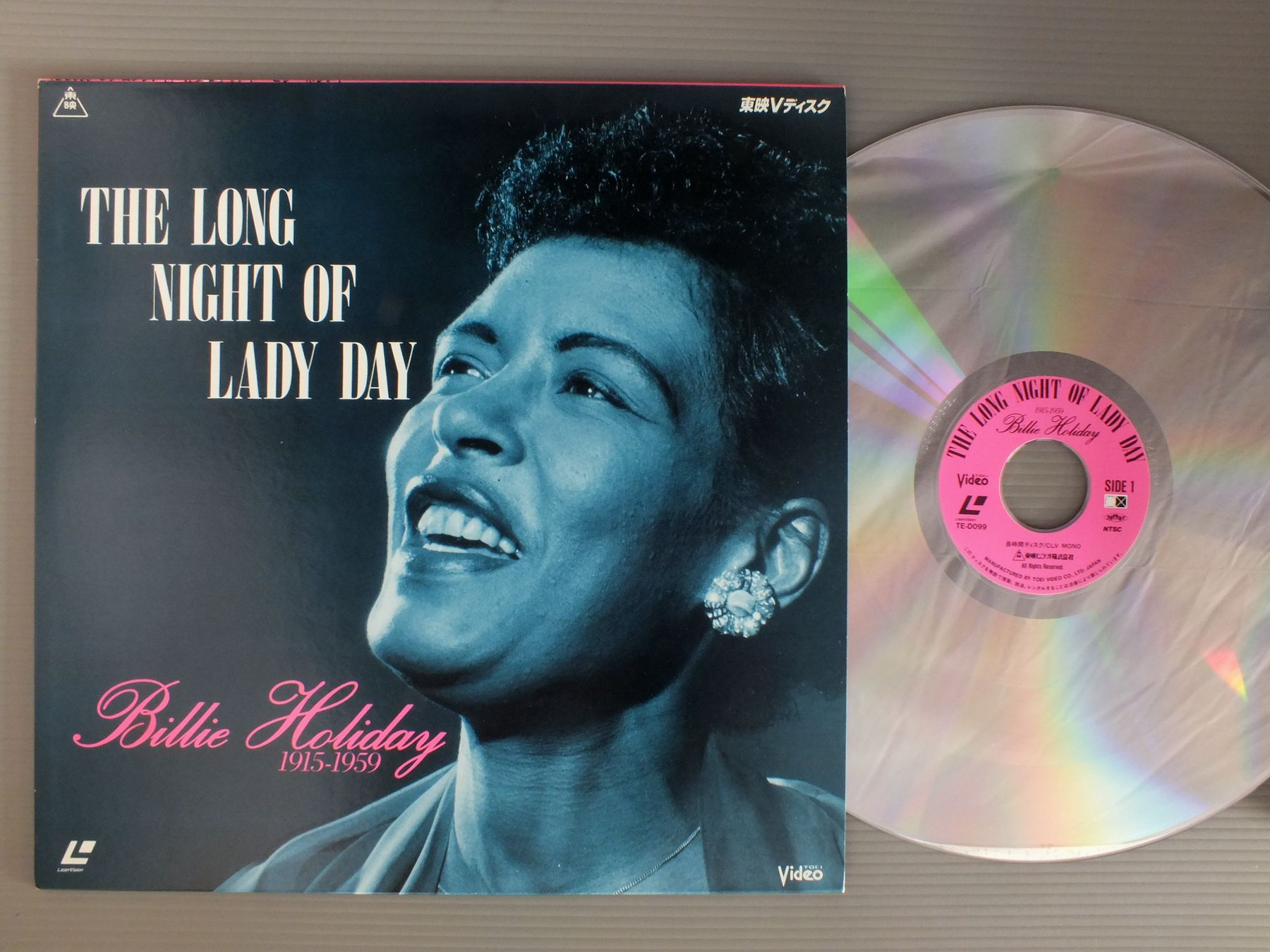 BILLIE HOLIDAY - LONG NIGHT OF LADY DAY - Laser Disc
