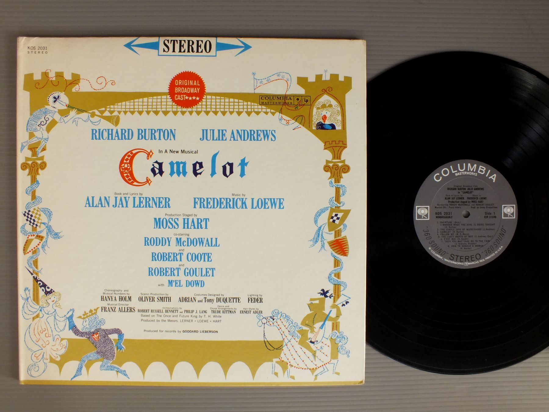 RICHARD BURTON-JULIE ANDREWS-RODDY MCDOWALL ETC - LERNER & LOEWE-CAMELOT - 33T