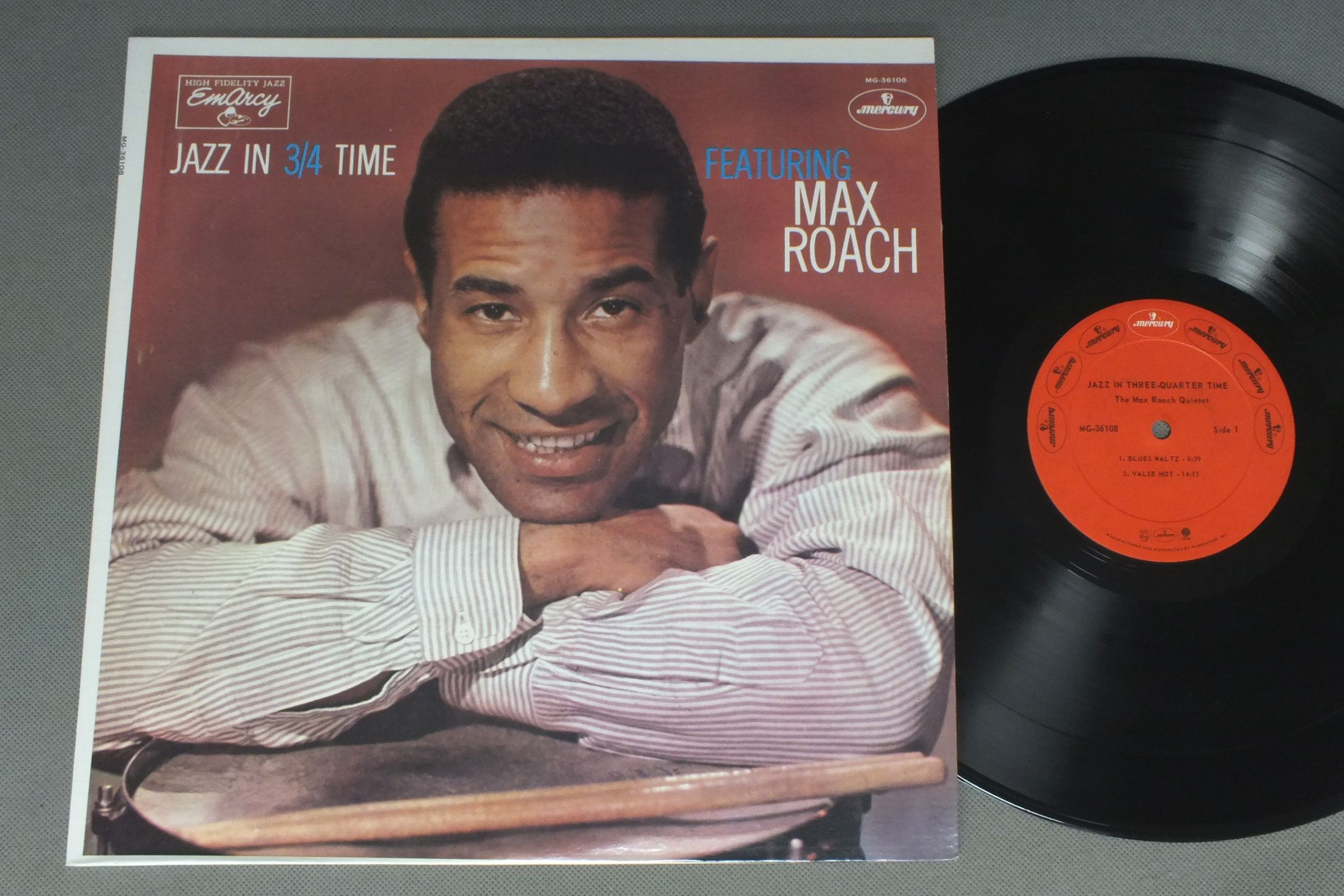 MAX ROACH - JAZZ IN THREE-QUARTET TIME - 33T