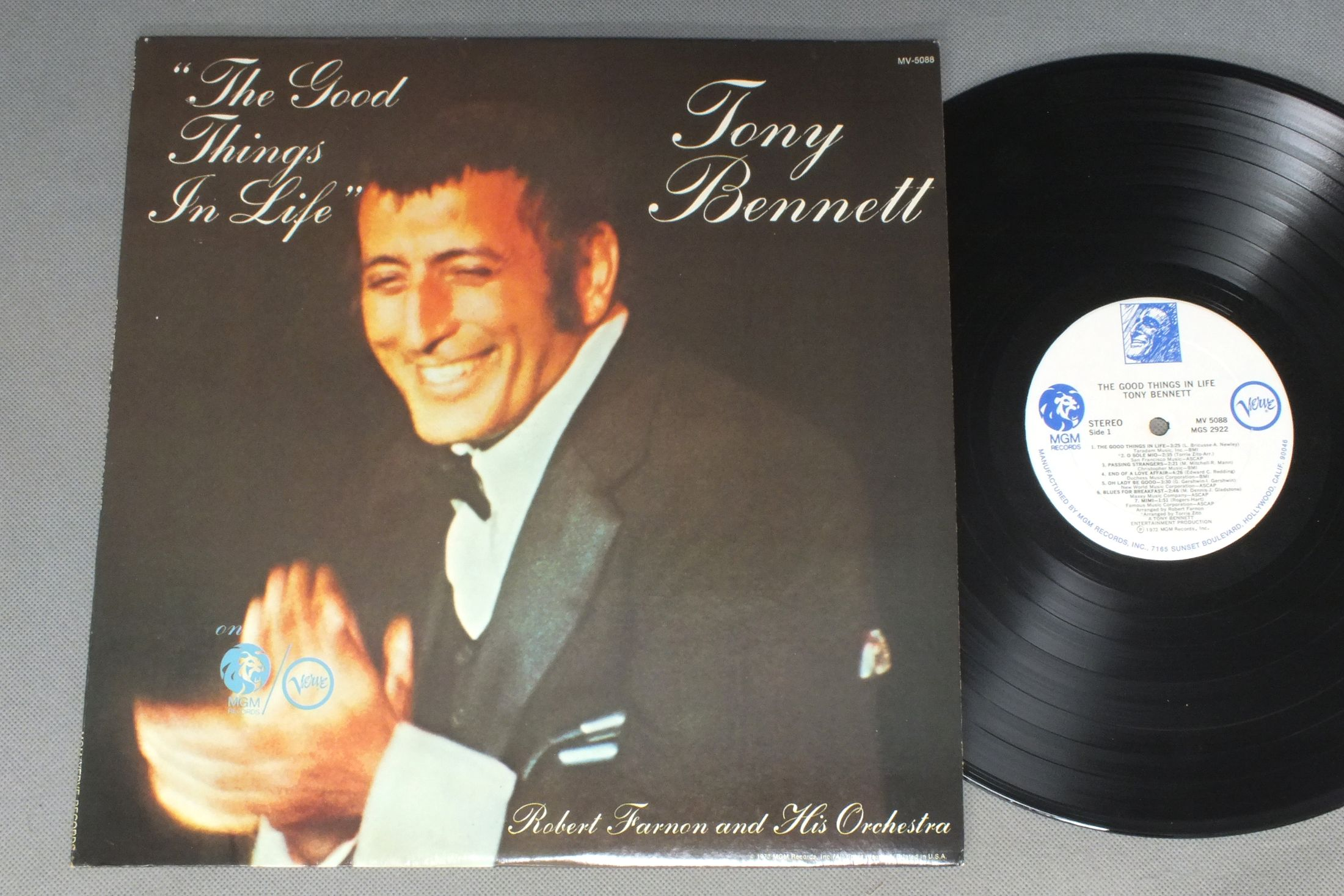 TONY BENNETT - GOOD THINGS IN LIFE - 33T