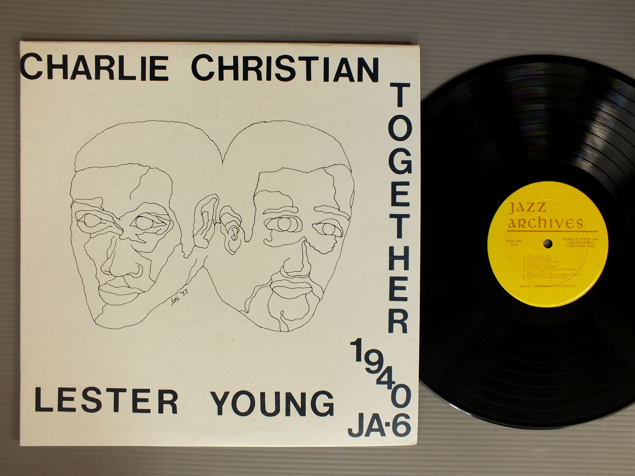 CHARLIE CHRISTIAN - LESTER YOUNG - TOGETHER 1940 - 33T