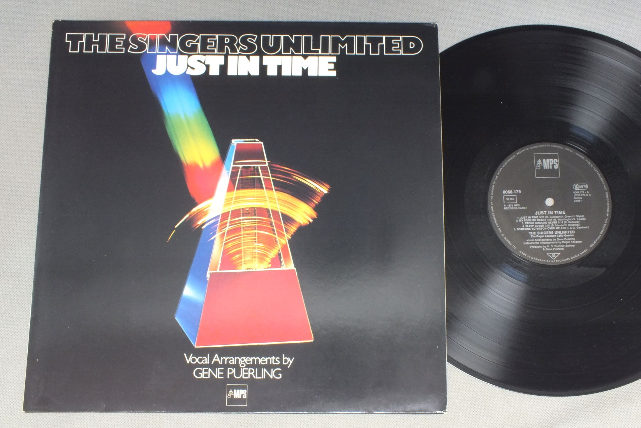 SINGERS UNLIMITED - JUST IN TIME - 33T