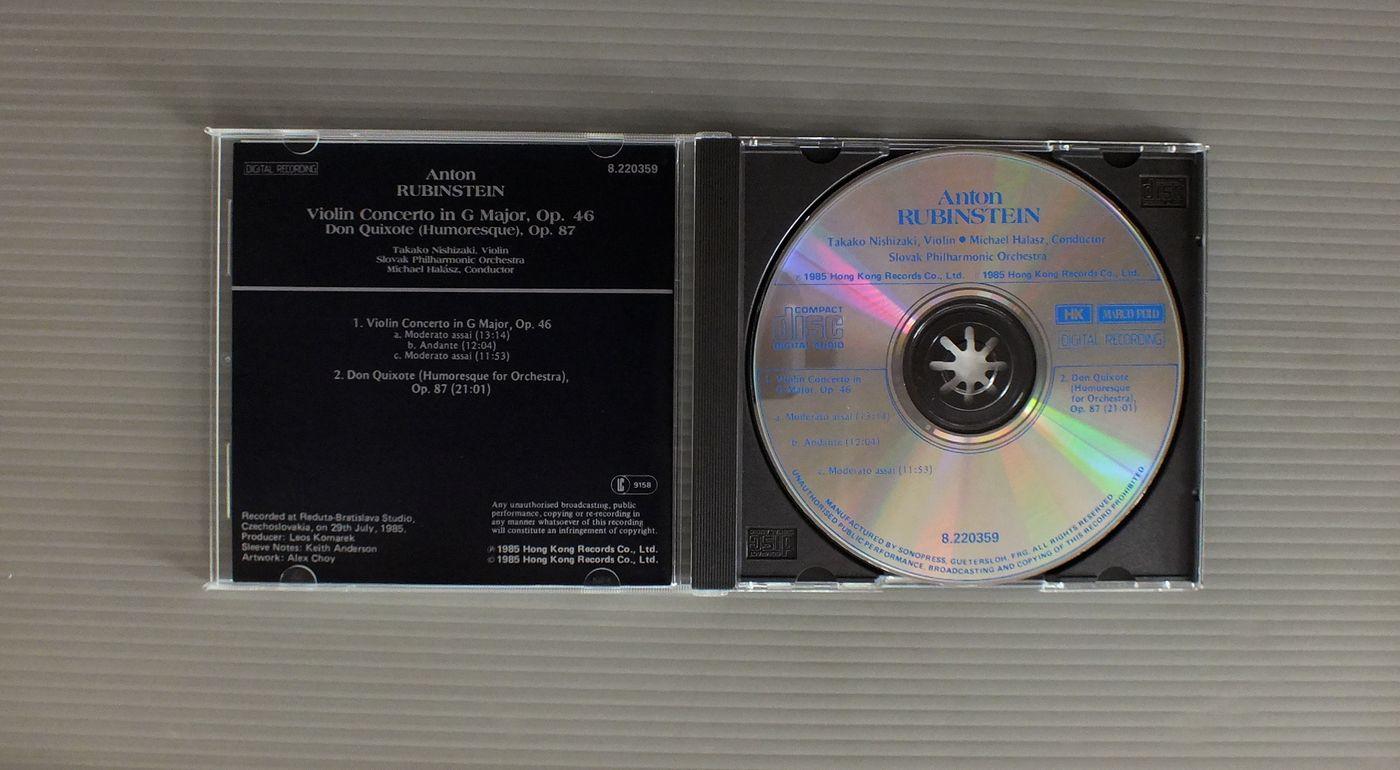 TAKAKO NISHIZAKI-MICHAEL HALASZ RUBINSTEIN-VIOLIN CONC. OP46-DON QUIXOTE OP87
