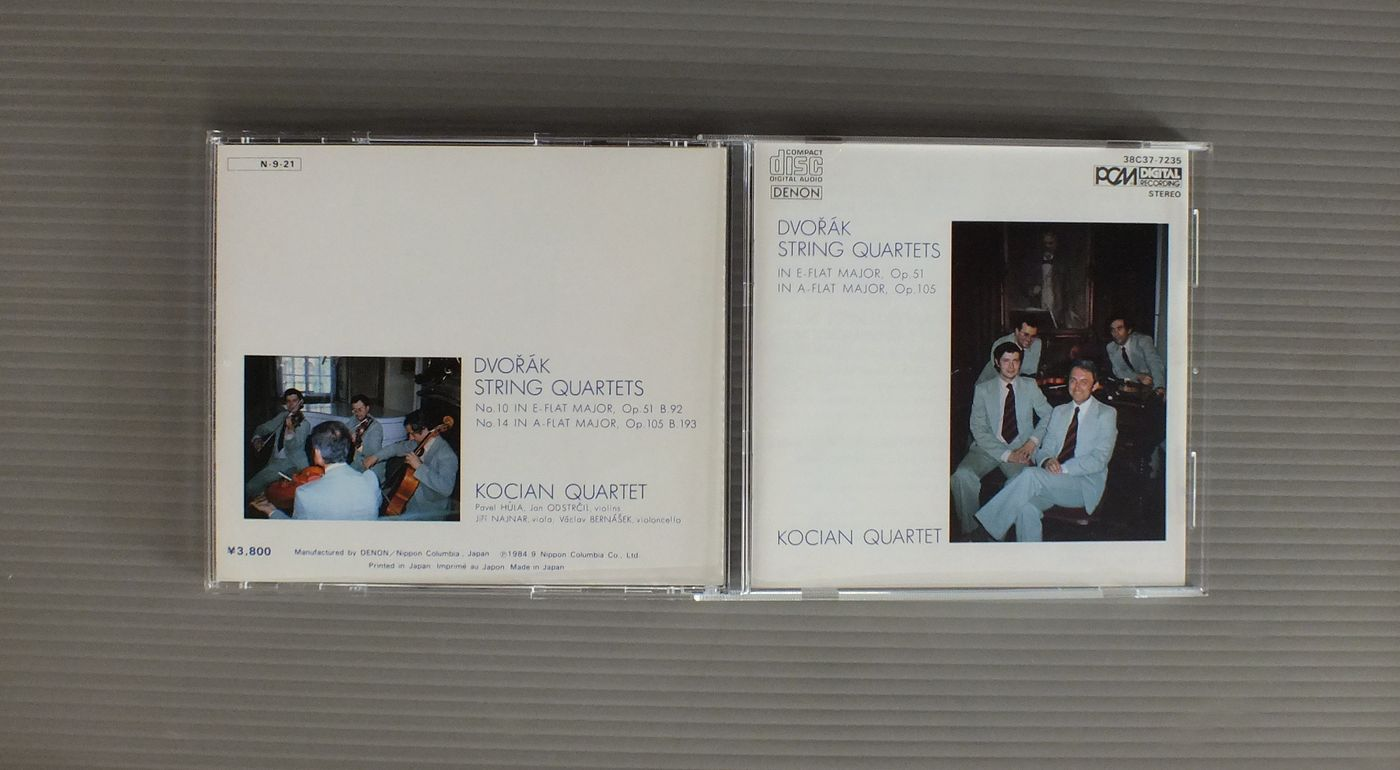 KOCIAN QUARTET - DVORAK-SQS NO10 & NO14 - CD