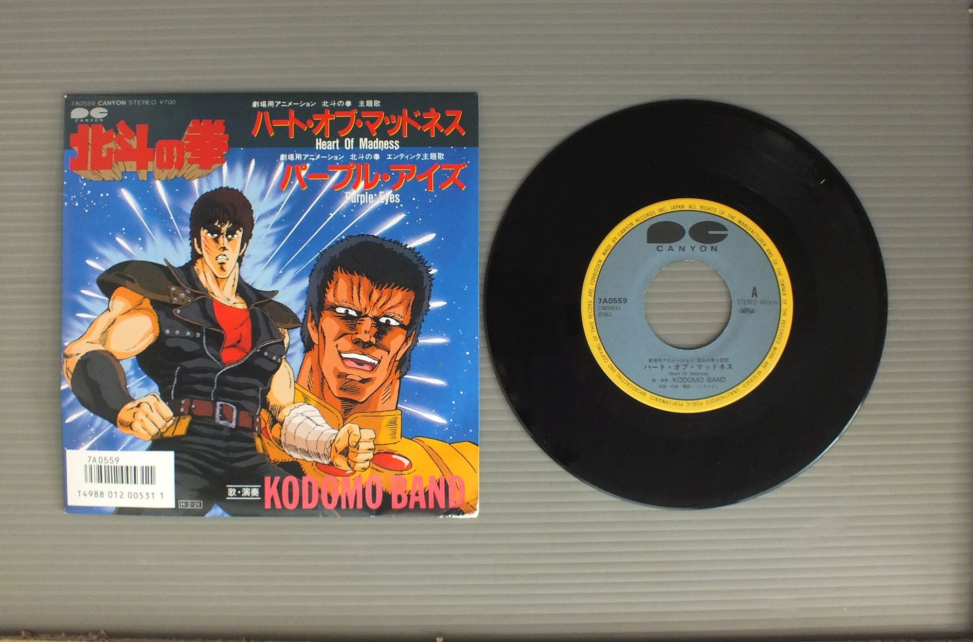 ANIME FIST OF THE NORTH STAR - MAIN THEME ( HEART OF MADNESS ) - 45T x 1